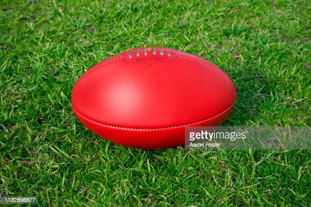 australian football - ball stock pictures, royalty-free photos & images