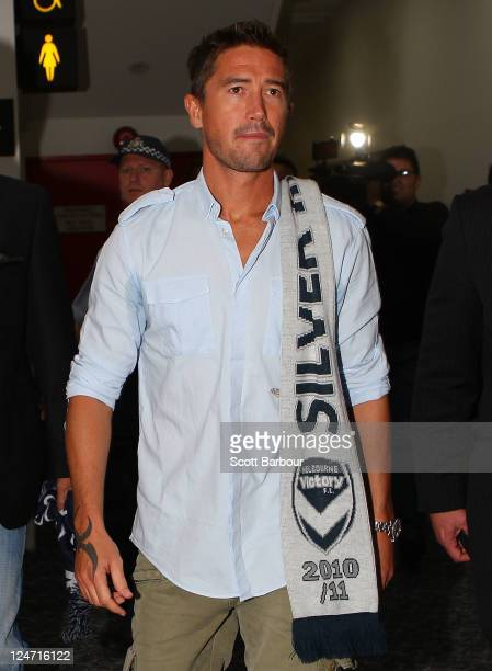Australian football player Harry Kewell arrives at Melbourne Airport on September 12, 2011 in Melbourne, Australia. Kewell has signed a three year...