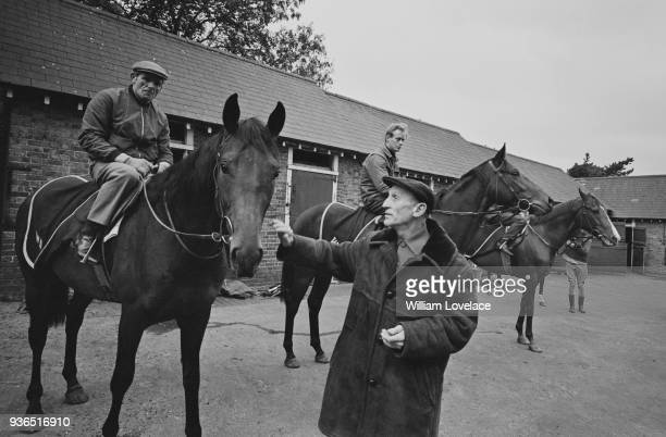 Australian former jockey and trainer Scobie Breasley at his stables in Epsom, UK, 7th November 1968.