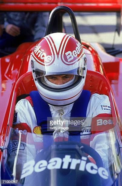 Australian formula one driver Alan Jones sits in his car during the 1985 European Grand Prix in Brands Hatch England