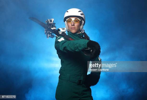 Australian freestyle skier Lydia Lassila poses during a portrait session on November 8 2017 in Melbourne Australia