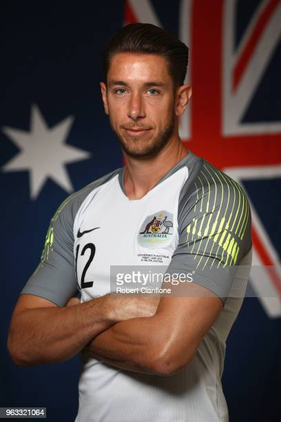 Australian goalkeeper Brad Jones poses during the Australian Socceroos Portrait Session at the Gloria Football Club on May 28 2018 in Antalya Turkey