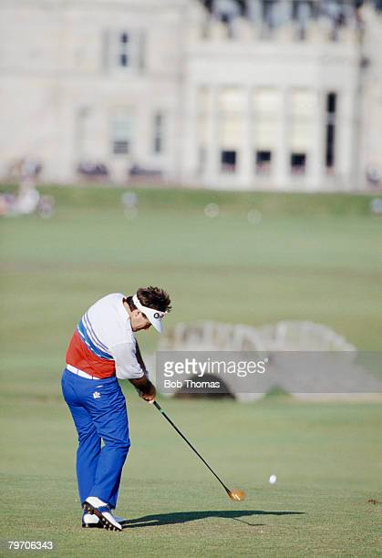 Australian golfer Craig Parry playing the 18th hole during the British Open Golf Championship at St Andrews Scotland held between 19th 22nd July 1995
