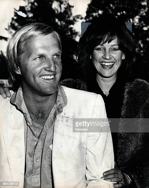 Australian golfer Greg Norman with Laura Andrassy on arrival from London