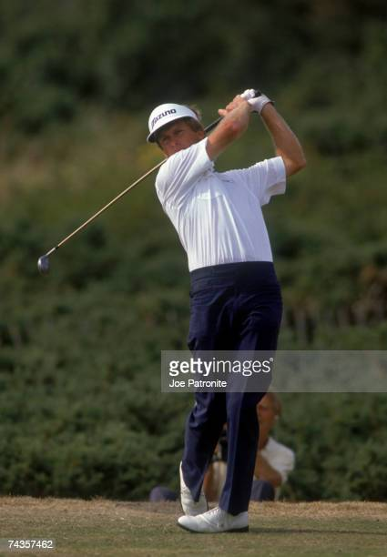 Australian golfer Wayne Grady during the final day of the British Open at Troon 1989