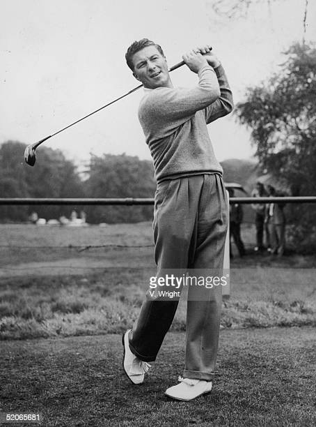 Australian golfing champion Peter Thomson in action May 1958