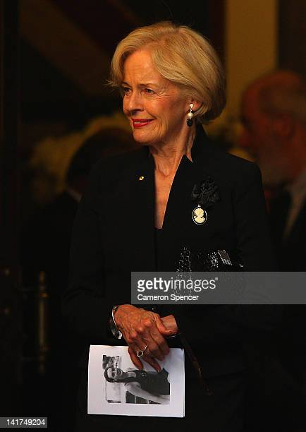 Australian Governor General Quentin Bryce attends the memorial service for Margaret Whitlam at St James Anglican Church on March 23 2012 in Sydney...
