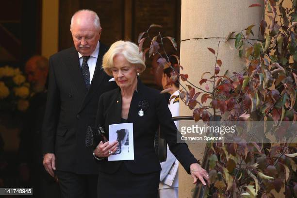 Australian Governor General Quentin Bryce leaves the memorial service for Margaret Whitlam at St James Anglican Church on March 23 2012 in Sydney...