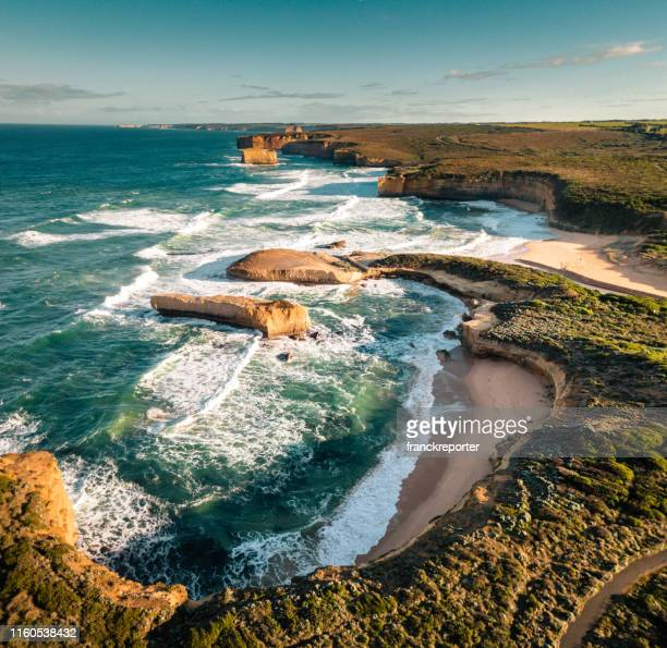 australian great ocean road coastline - coastline stock pictures, royalty-free photos & images