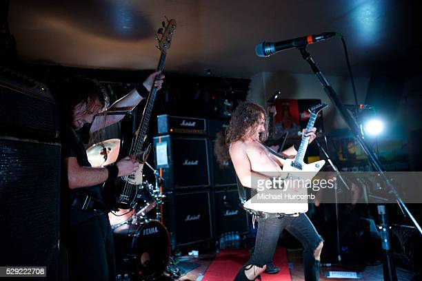Australian hard rock band Airbourne play a club show at the Historic Red Dog in Peterborough Ontario