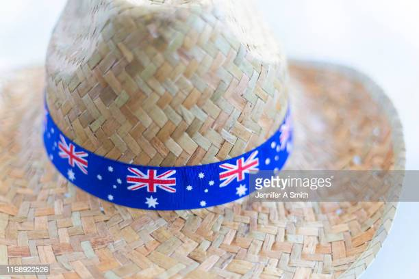 australian hat - australia day stock pictures, royalty-free photos & images