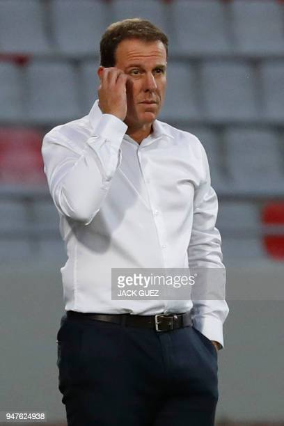 Australian head coach Alen Stajcic during the AFC Women's Asian Cup Semi Final match between Australia and Thailand at the King Abdullah II Stadium...