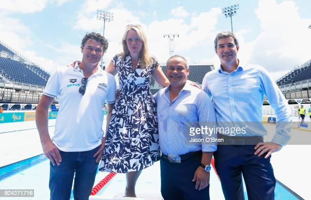 Australian Head Coach Jacco VerhaerenThe Honourable Kate Jones Minister for Tourism Industry Development and Minister for the Commonwealth GamesGold...