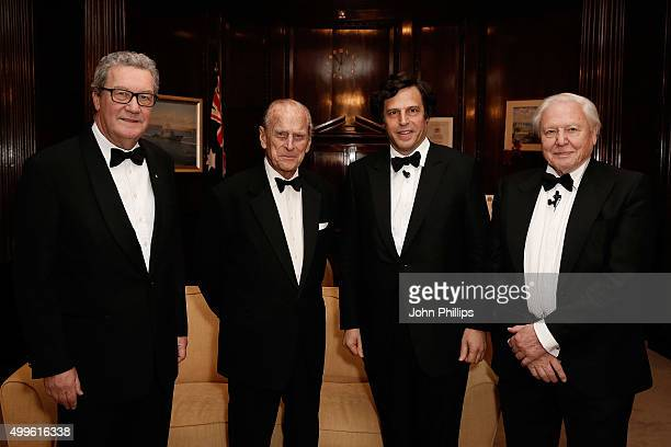 Australian High Commissioner Alexander Downer Sir David Attenborough Atlantic Productions CEO and Creative Director Anthony Geffen and HRH Prince...