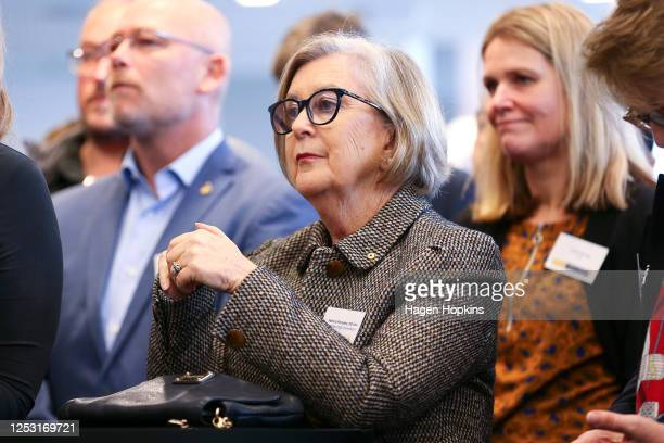 Australian High Commissioner to New Zealand, Patricia Forsythe, looks on during a Wellington Chamber of Commerce event at PwC Centre on June 29, 2020...
