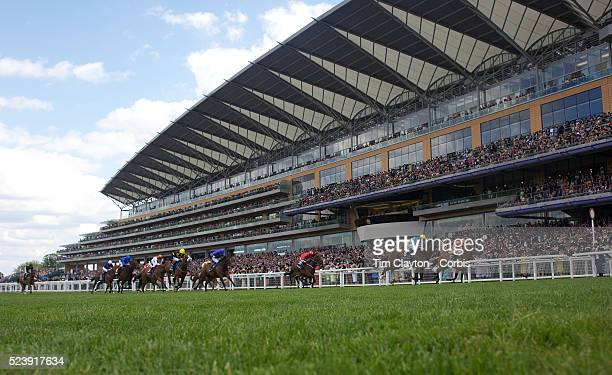 'Australian horse Scenic Blast ridden by Steve Arnold winning The King's Stand Stakes The British leg of the global sprint challenge at Royal Ascot...