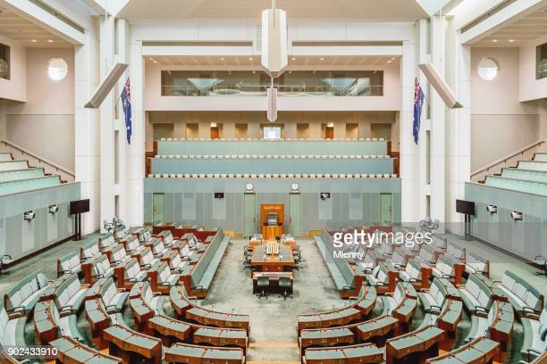 australian house of representatives inside australian parliament house canberra - election stock pictures, royalty-free photos & images