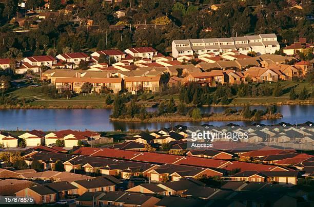 Australian housing at Tuggeranong a suburb of Canberra Australian Capital Territory Australia