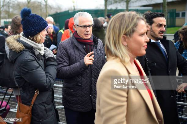 Australian human rights lawyer Jennifer Robinson and Spanish former judge Baltasar Garzon, part of the defence team of WikiLeaks founder Julian...