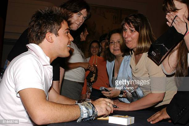 Australian Idol 2004 runner up Anthony Callea meets his fans during his first ever instore appearance for the launch of Virgin Megastore at Myer...