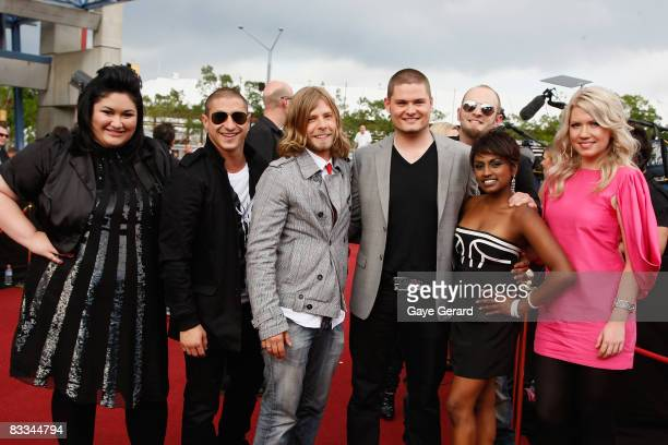 Australian Idol contestants arrive arrives at the 2008 ARIA Awards at Acer Arena Sydney Olympic Park on October 19 2008 in Sydney Australia The 21st...
