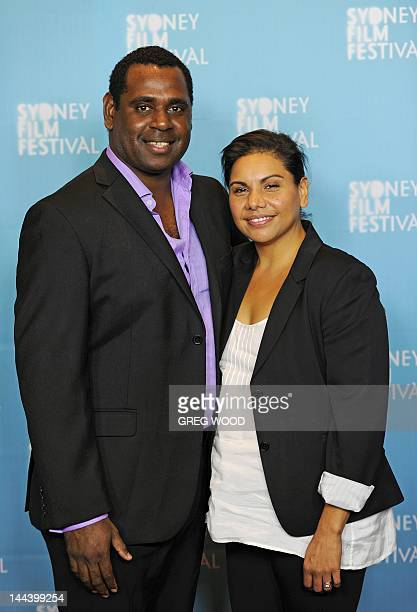 Australian indigenous actors Deborah Mailman and Jimi Bani stars of the film 'Mabo' pose prior to the Sydney Film Festival Program launch in Sydney...