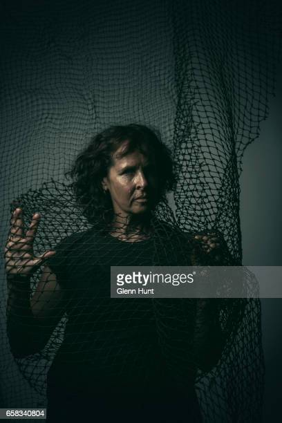 Australian indigenous artist Judy Watson poses during a portrait session on February 27 2017 in Brisbane Australia Photography by Glenn Hunt / Getty...