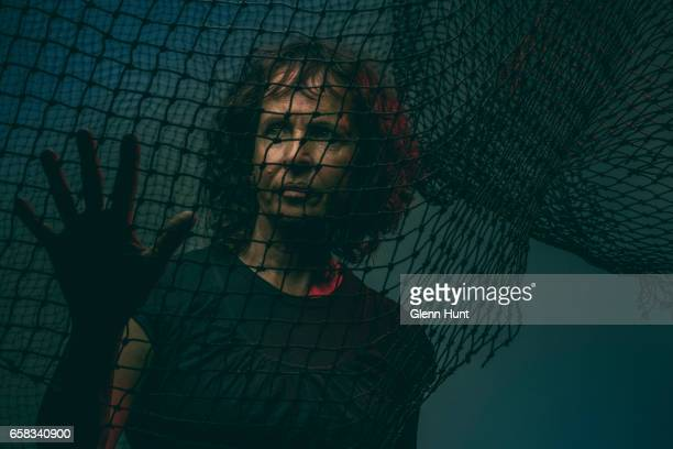 Image was altered with digital filters Australian indigenous artist Judy Watson poses during a portrait session on February 27 2017 in Brisbane...