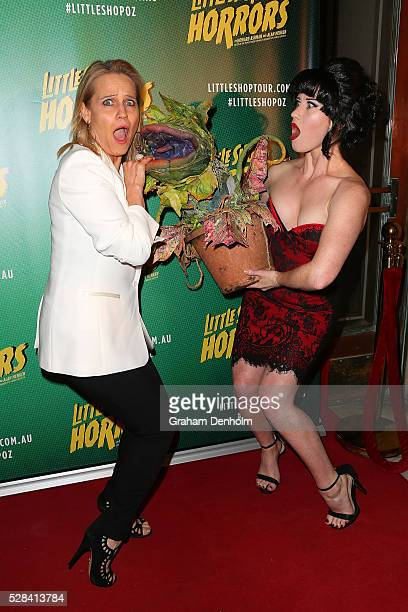 Australian interior designer and television personality Shaynna Blaze arrives ahead of the opening night for the Little Shop of Horrors at the Comedy...