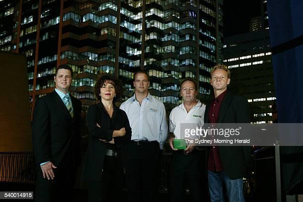 Australian IT experts from left Geoff McQueen Natalka Suchowerska Graham Henley John Nicholls and Todd Martin at Cockle Bay Sydney 1 May 2006 SMH...