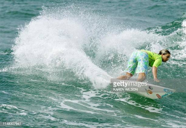 Australian Jessie Dyer posts a strong win in the quarterfinals of the Quiksilver ISA World Junior Championships at Durban's North Beach South Africa...