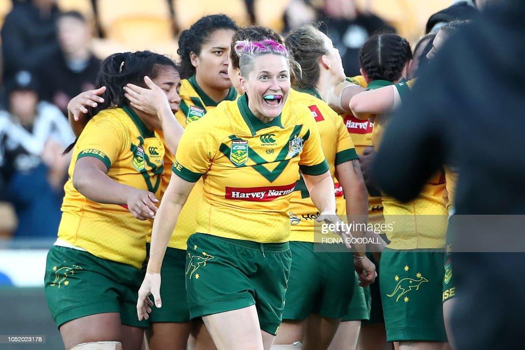 RUGBY-WOMEN-NZL-AUS : News Photo