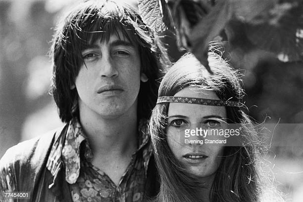 Australian journalist Richard Neville the central editor of Oz magazine with his girlfriend Louise Ferrier 5th August 1968