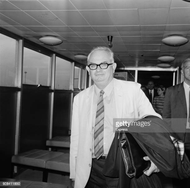 Australian journalist Wilfred Burchett detained by immigration officials at Heathrow Airport London UK 25th June 1968