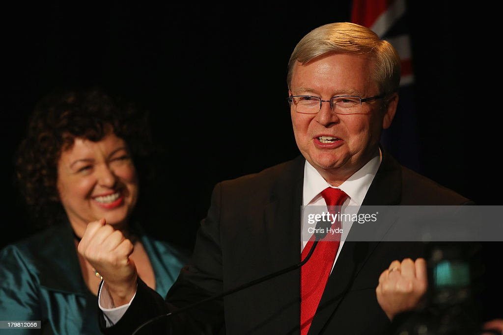 Kevin Rudd Concedes Election Defeat In Brisbane : News Photo