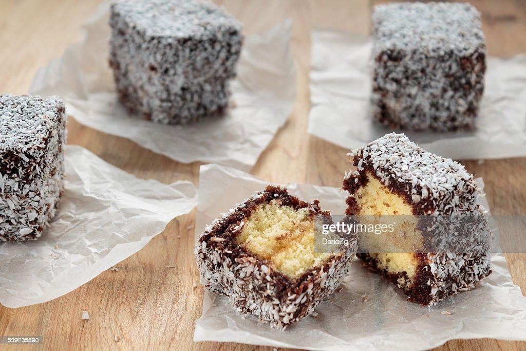 Australian Lamington cake : Stock Photo