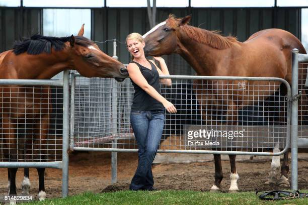 Australian lawyer Jennifer Robinson poses for a portrait at the Berry property of her father horse racing trainer Terry Robinson on January 20 2008...