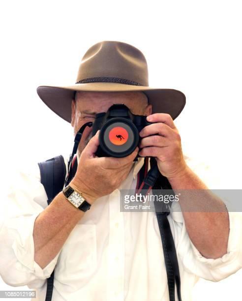 Australian man taking photograph