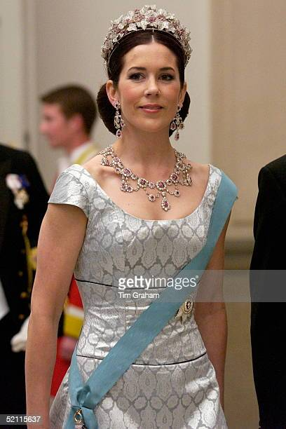 Australian Mary Donaldson Attending A Reception At The Christiansborg Palace To Celebrate Her Forthcoming Marriage