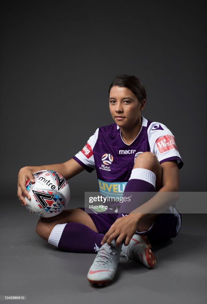 Australian Matildas player Samantha Kerr poses for a ...