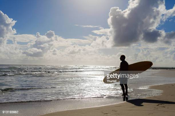 Australian Mature Age Man Going Surfing
