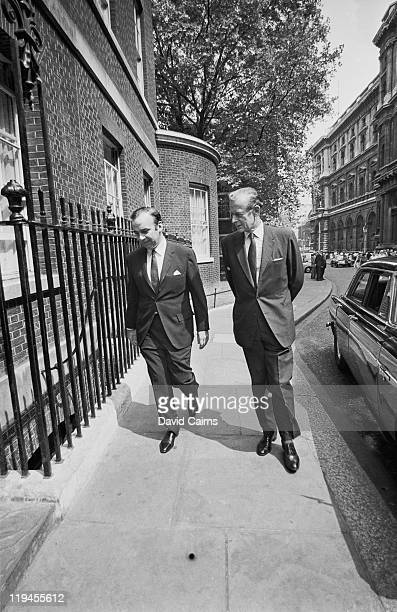 Australian media mogul Rupert Murdoch with Managing Director of The Financial Times Charles Moore 11th Earl of Drogheda 10th June 1970 The two are in...