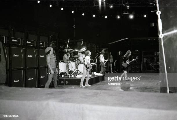 Australian metal band AC/DC in concert in Rio