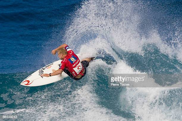 Australian Mick Fanning competes during the final of the Rip Curl Pro Pipeline Masters ASP World Tour event part of the Vans Triple Crown of Surfing...