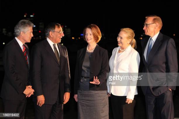 Australian Minister for Defense Stephen Smith US Secretary of Defense Leon Panetta Australian Prime Minister Julia Gillard US Secretary of State...