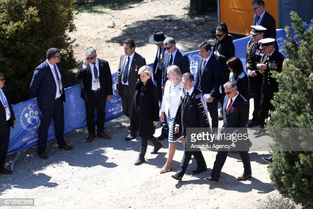 Australian Minister for Foreign Affairs Julie Bishop New Zealand's Justice Minister Amy Adams New Zealand's Ambassador to Turkey Jonathan Curr and...