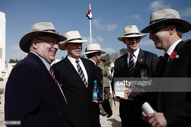 Australian Minister for Veterans Affairs Warren Snowdon attends commemorations for the 70th anniversary of the second Battle of El Alamein at El...