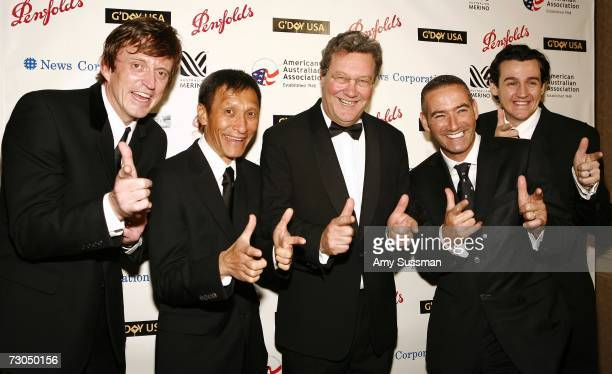 Australian Minister of Foreign Affairs Alexander Downer and the children's musical group The Wiggles attends the 2006 Australia Day Ball to honor...