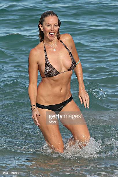 Australian model Annalise Braakensiek enjoys the warm winter weather on May 23 2014 in Sydney Australia The popular celebrity is enjoying success...