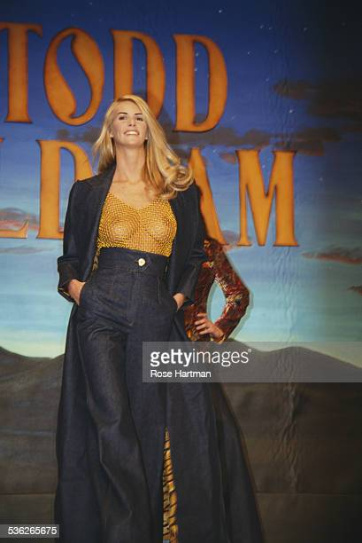 Australian model Elle Macpherson on the runway at the Todd Oldham Fall 1995 fashion show New York City 4th April 1995
